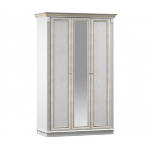 Версаль Шкаф 3Д С Зеркалом СБ 2318 Белый Ясень