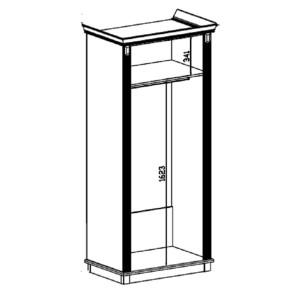 Версаль Шкаф 2Д СБ-2045 Белый Ясень