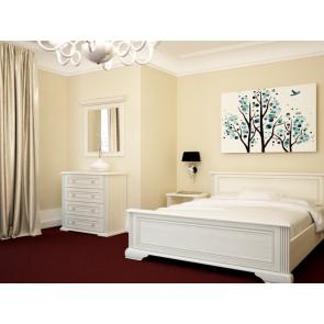 Вайт Кровать 160 Серебряная Сосна