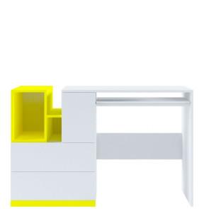 Моби Стол Письменный BIU 130 Нимфея Альба, Желтый