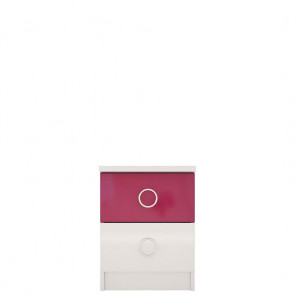 Ниагара Тумба Прикроватная СВ-351 Белый Розовый