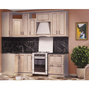 Регина Кухня Угловая 0,9м+2,4м Дуб Ривер Патина