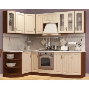 Регина Кухня Угловая 1,3м+2,4м Бежевый